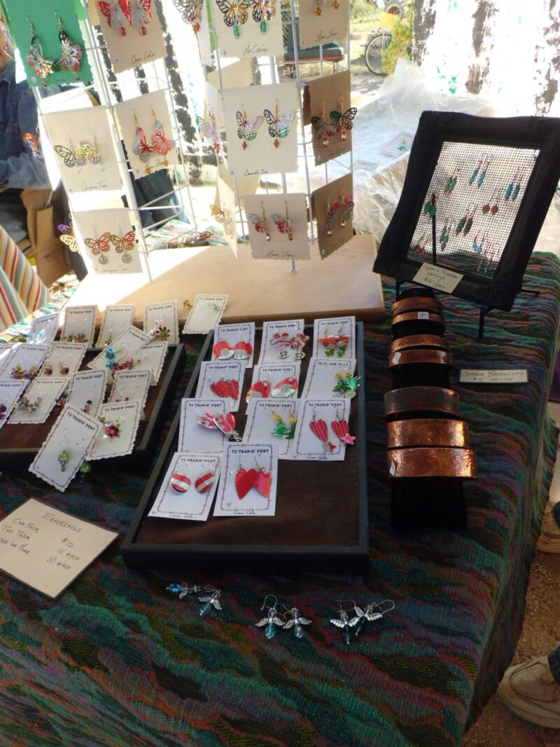 Display of jewelry for sale at the Green Scene